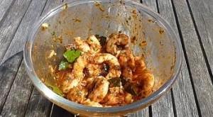 crevettes marinées