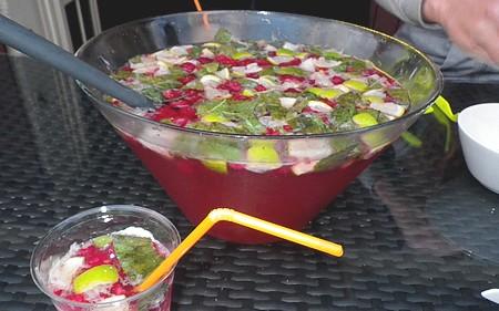 mojito long drink à la framboise