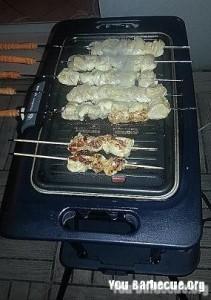 brochettes de poulet au barbecue
