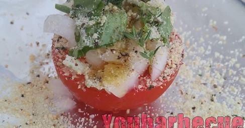 Papillotte de tomates provencales au barbecue