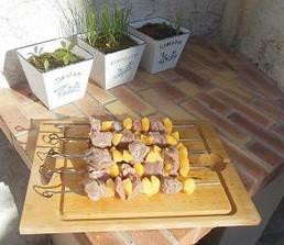 brochettes filet avant cuisson