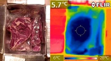 colis du boucher caméra thermique