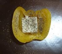 papillotes de poivron avant cuisson