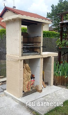 barbecue en béton cellulaire terminé