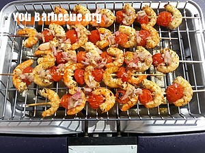 brochettes crevettes tomates façon bloody mary