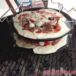 pizza au barbecue en cuisson