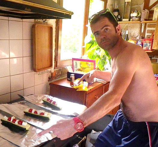 courgettes tomate mozza au barbecue Une