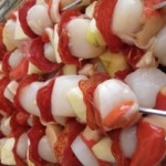 brochettes chorizo pommes avant cuisson