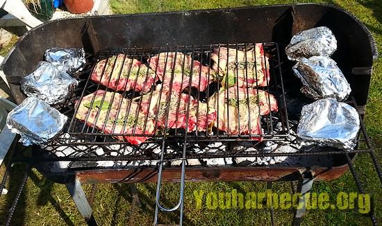 cote de porc au barbecue