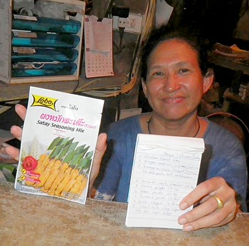 Ond et sa recette poulet chicken satay
