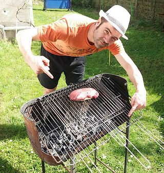Magret au barbecue sans flamme