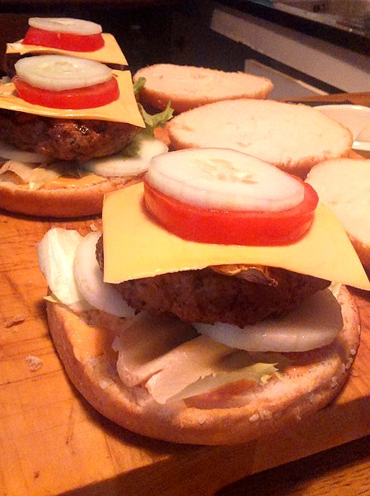 Montage du burger glaçon