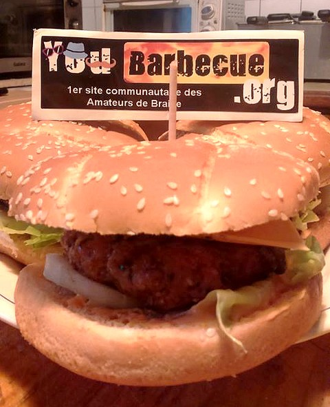 Burger avec steak glaçon