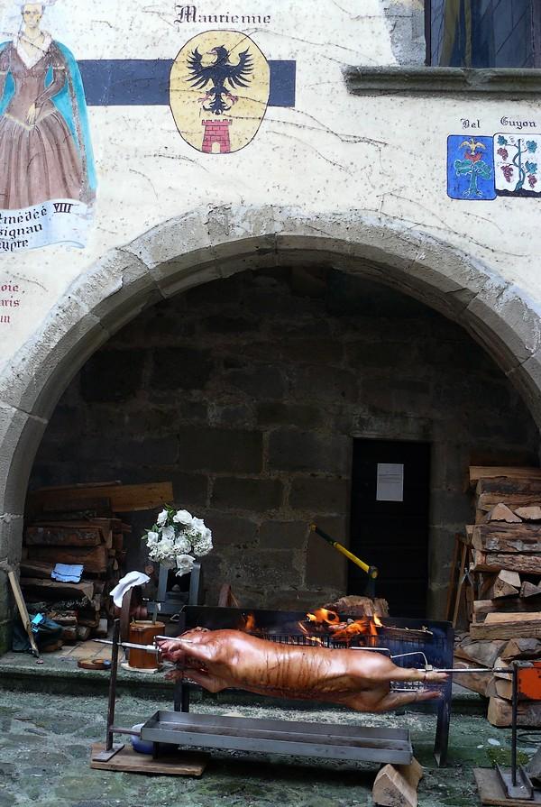 cochon broche ebn cuisson