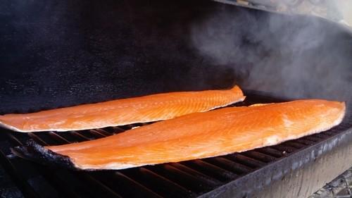 saumon fumée dans offsets moker