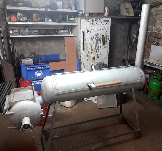 assemblage bouteille pour realisation offset smoker