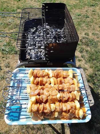 recette brochette poulet cidre barbecue