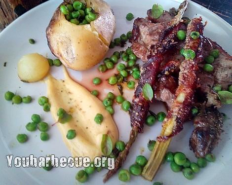 recette selle d'agneau à la broche