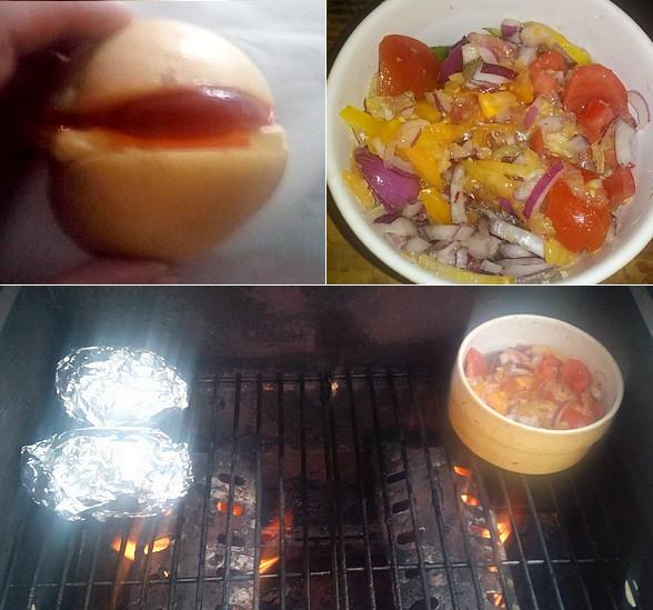 pomme de terre et confit de tomate