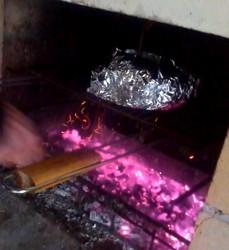 cote de boeuf fin de cuisson dans l'alu