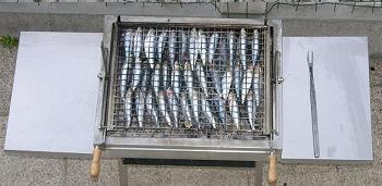 barbecue magique avec sardines