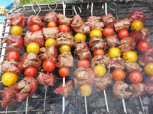 brochettes sugar beef
