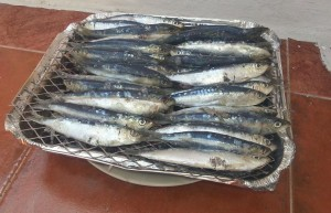 barbecue vin sardines grillées