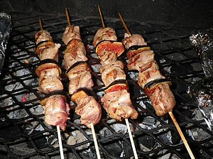 brochettes cuites
