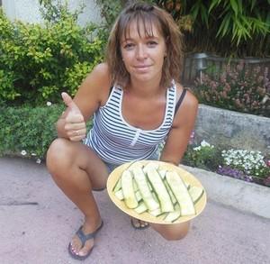 lamelles de courgettes grillées