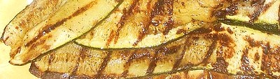 courgettes en lamelles au barbecue