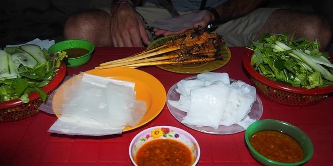 Brochettes de Porc de Hoi An et accompagnements