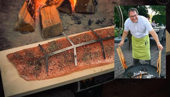 saumon flambé slider