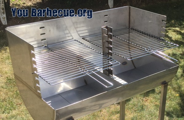 barbecue inox double grille