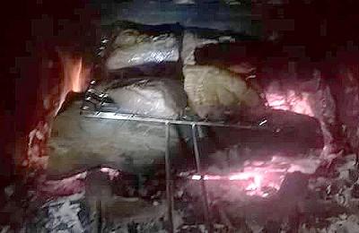 grillade de boeuf fumée au foin