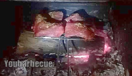 poire d'angus fumée au foin cuisson cheminée