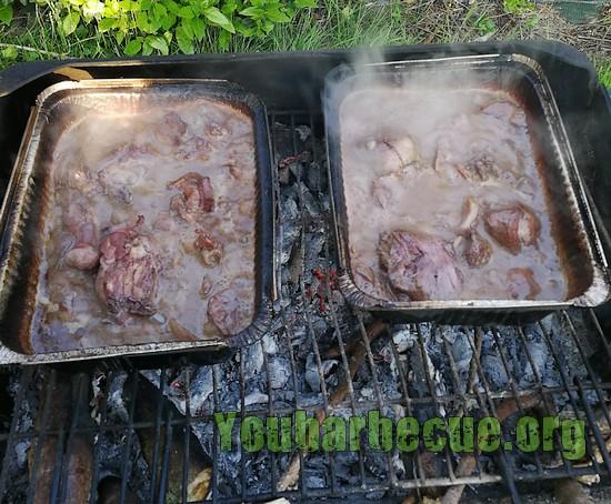 cuisson lapin barbquette aluminium