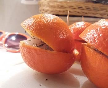 clementines prêtes avant cuisson
