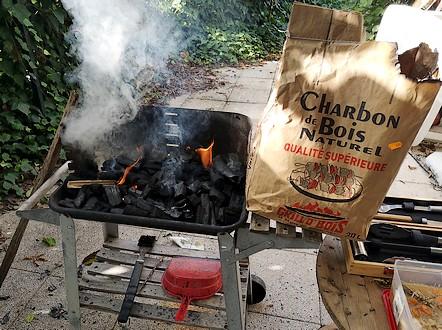 allumage au charbon grill o bois