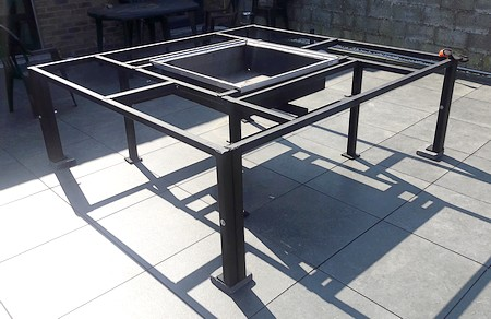chassis table barbecue