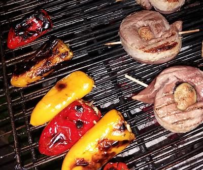 minis poivrons sur le barbecue