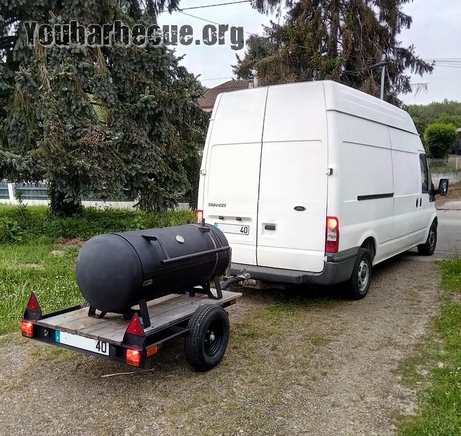 barbecue sur remorque