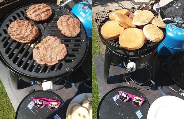 Steak crétois en cuisson