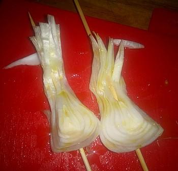 oignon nouveau grillé