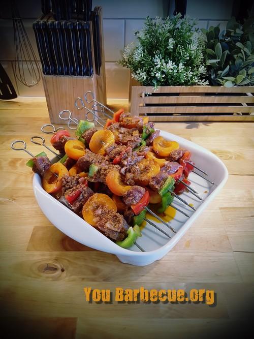 recette de magret marinée pesto aux abricots