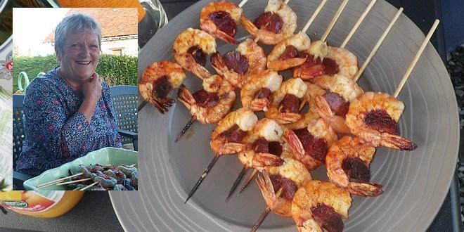 crevettes au chorizo slider