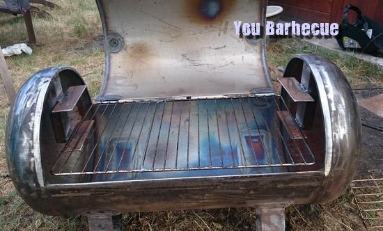 support de grille barbecue bouteille air comprimé