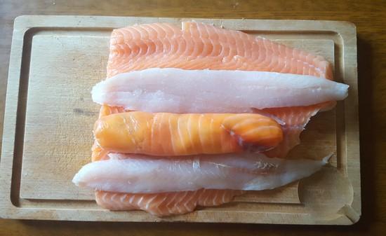 rôti de saumon à plat